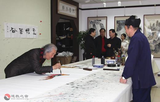 北京西城区举办道教代表人士庆祝建国七十周年书画笔会