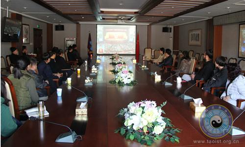 中国道教协会组织全体人员收看十三届全国人大二次会议开幕式