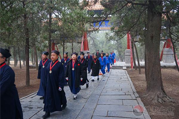 吉林市道教协会组织道众前往河南朝山拜祖祖感悟道统