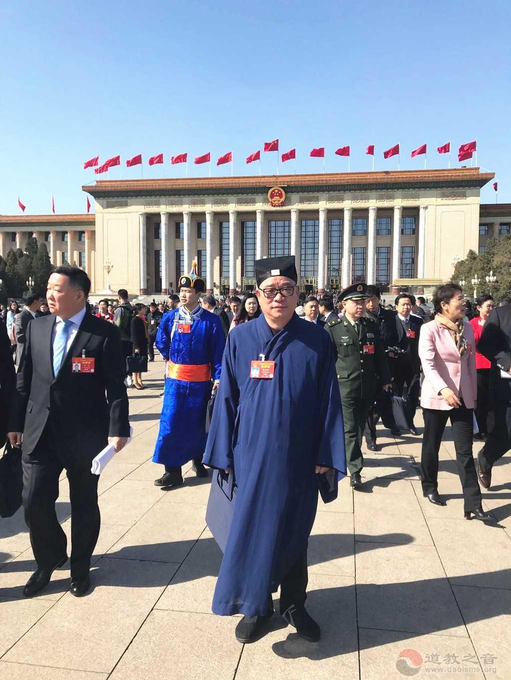 全国人大代表、中国道教协会副会长、江西省道教协会会长张金涛道长
