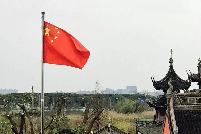 上海道教学院第六届本科班举行升国旗仪式