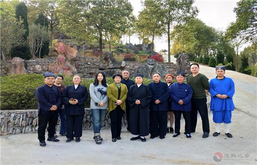 湖南省道协会长黄至安方丈率队赴怀化调研