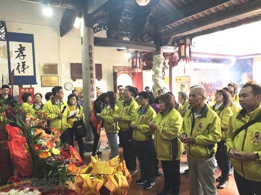 台湾台南无极真圣宫一行到漳州武庙进香交流