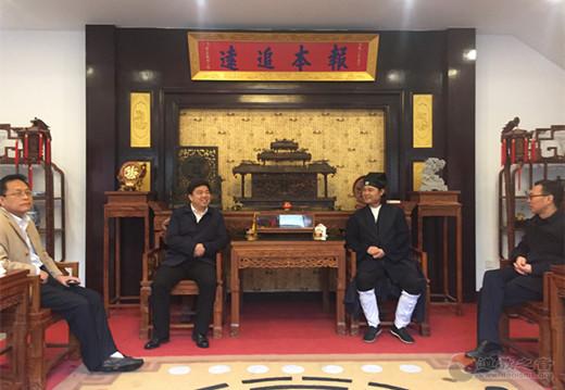陕西省汉中市副市长邱仕伟一行视察青龙观