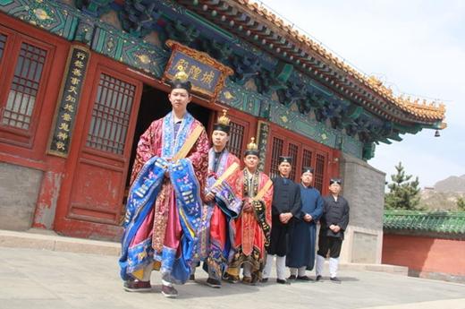 清明节北京居庸关都城隍庙举行祈福仪式