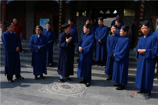 上海市浦东新区道教协会参访陕西西安八仙宫