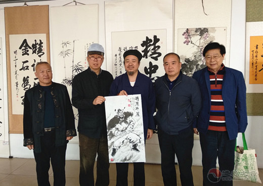 河北涿州泰宁宫书画院举办京冀书画文化交流笔会