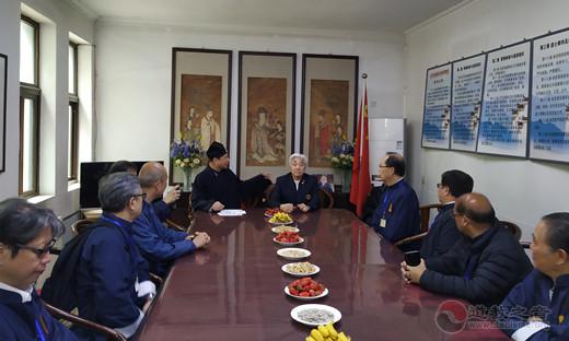 香港黄大仙祠参访团一行参访北京东岳庙