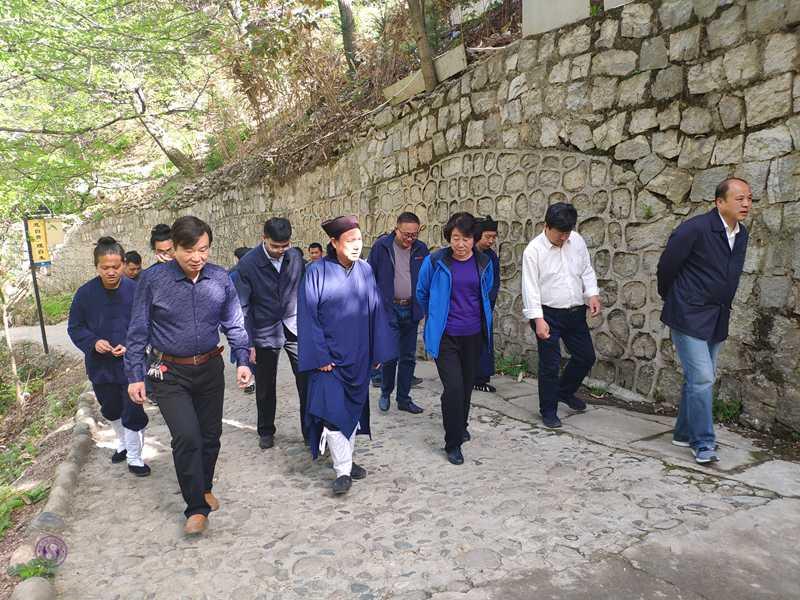 陕西省政协副主席冯月菊一行视察长安太乙宫、金仙观