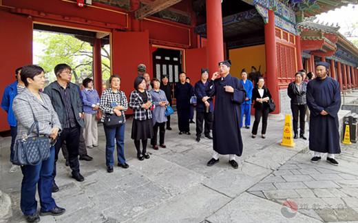 北京市中青年教职人员骨干学习班成员到东岳庙参观学习