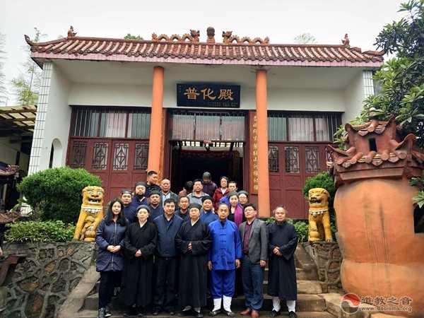 湖南省道教协会会长黄至安道长率队赴益旧调研