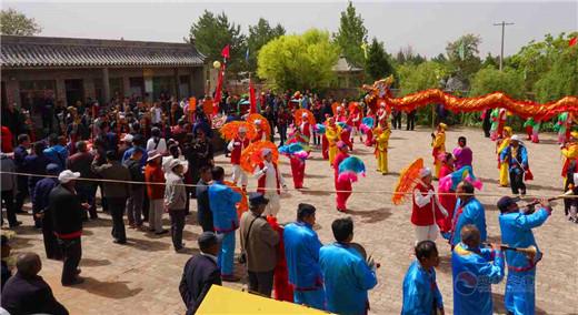 陜西榆林市榆陽區臥云山舉辦傳統廟會宣傳道教生態倫理