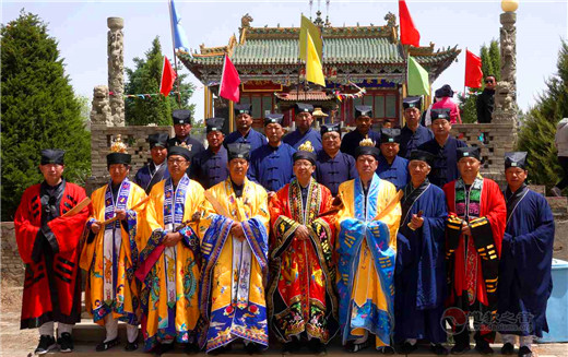 陕西榆林市榆阳区卧云山举办传统庙会宣传道教生态伦理