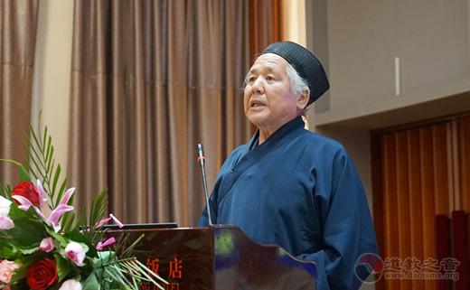 黄至杰道长作《河南道教在中国道教中的地位与现状》主题发言