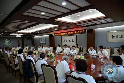 香港蓬瀛仙馆和马来西亚北海斗母宫一行拜访中国道教协会