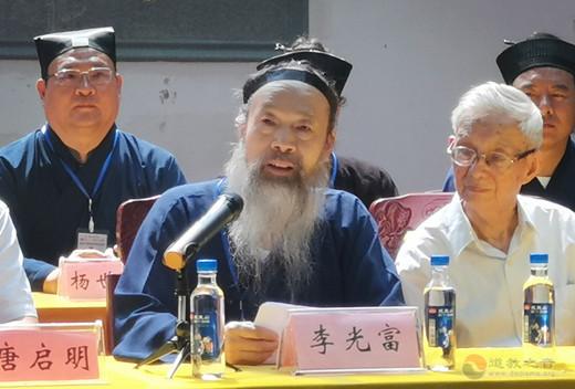 李光富会长:闵智亭道长的一生,是爱国爱教的一生