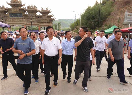 榆林市政协副主席一行视察黑龙潭旅游文化周活动安全工作
