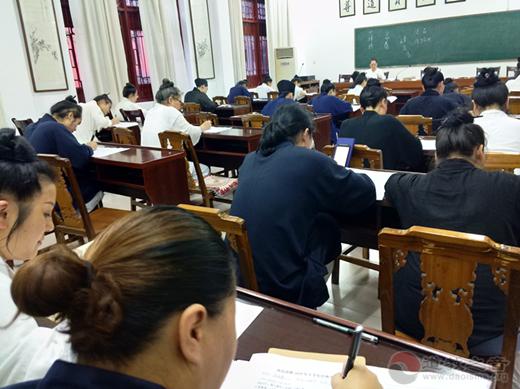 南岳道教协会举行2019年度道众期中测试