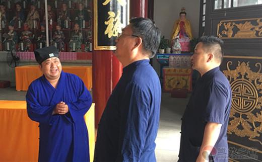 中国道教协会副秘书长杨世华道长视察德清昌福宫