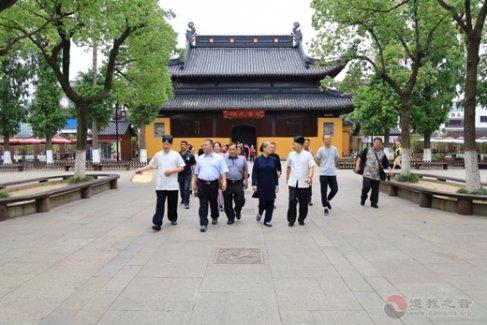 """台湾""""两岸道教宫庙联谊活动""""嘉宾团一行60人参访苏州玄妙观"""