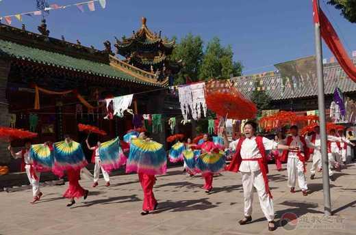 陕西榆林东山关帝庙举行关帝诞辰1859年纪念活动