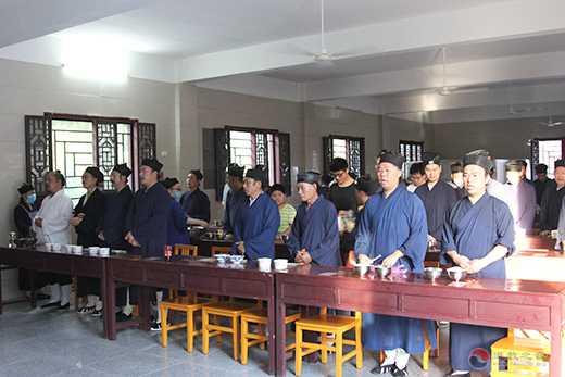 湖北省道教協會己亥年全真派道士冠巾活動在蘄春普陽觀舉行