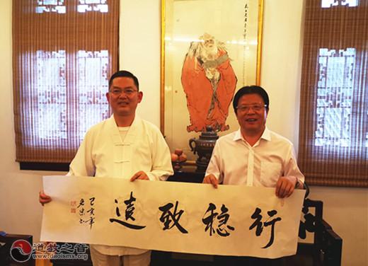 海安市委书记顾国标一行到上海城隍庙参访交流