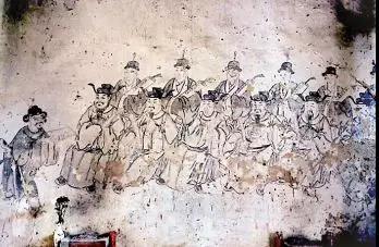"""福州龙峰泰山庙内的""""十府两州都城隍""""壁画"""