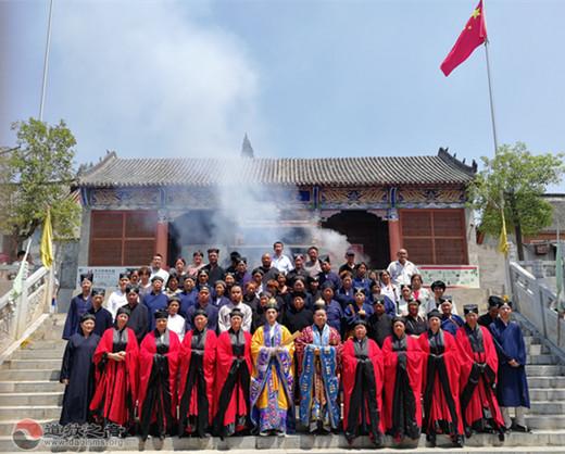 南陽市道協舉行慶祝建國七十周年祈福法會暨全真派冠巾典禮