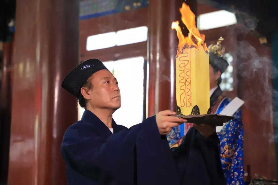 北京白云观举行纪念中国人民抗日战争暨世界反法西斯战争胜利74周年和平祈祷法会