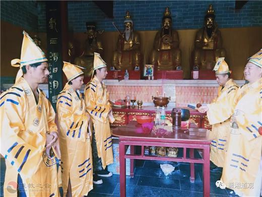 永州市道協在瀟湘觀舉行祈福法會