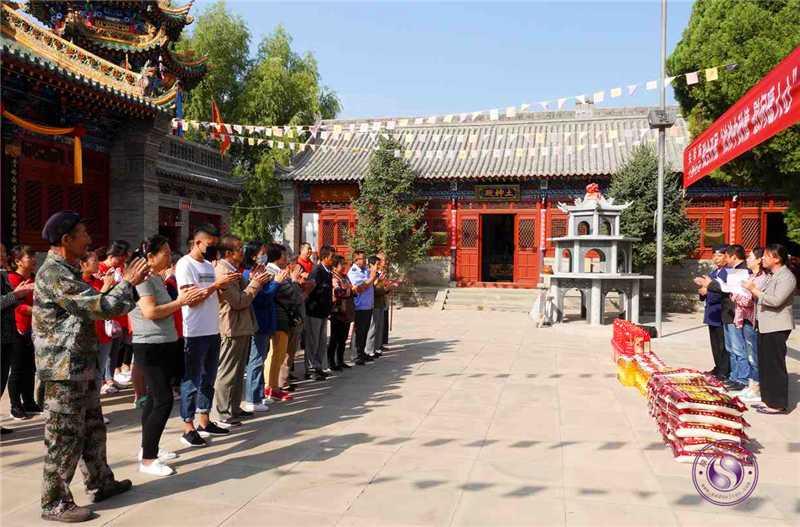 榆林市东山关帝庙中秋节前慰问低保困难户