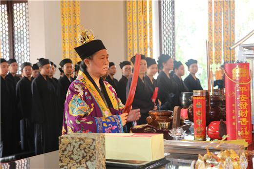 南岳坤道学院举行新生开学升国旗仪式及纪念抗日战争胜利74周年和平祈福法会