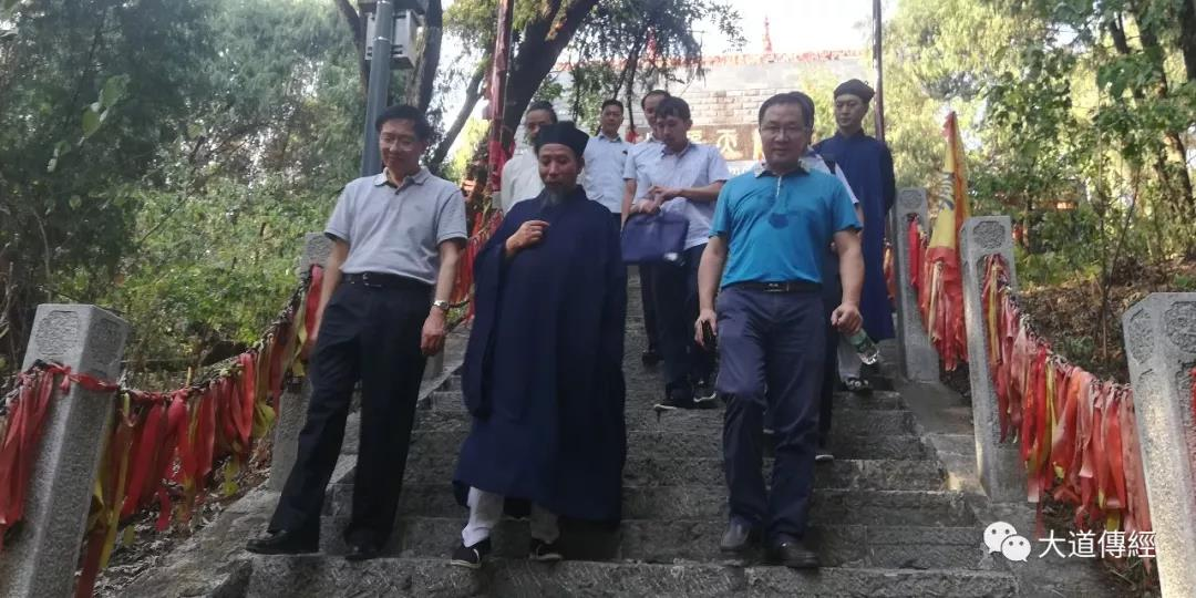 武汉市委副秘书长一行视察调研武汉大道观