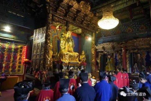 甘肃省道协、兰州市道协隆重举行庆祝中华人民共和国成立70周年暨世界反法西斯战争胜利74周年和平祈祷法会