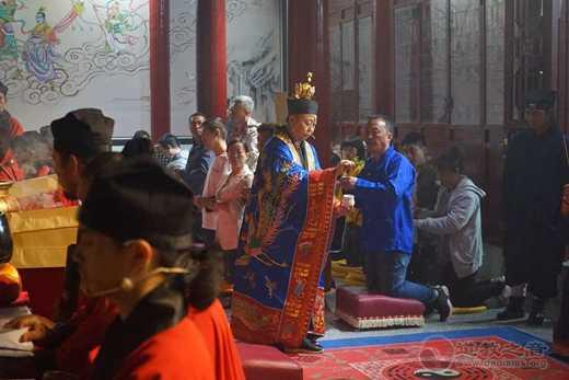 北武当玄帝观中秋佳节隆重启建拜月活动