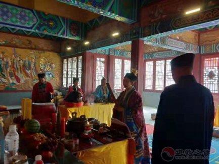 保定一亩泉龙母宫举办庆祝新中国成立70周年祈福法会
