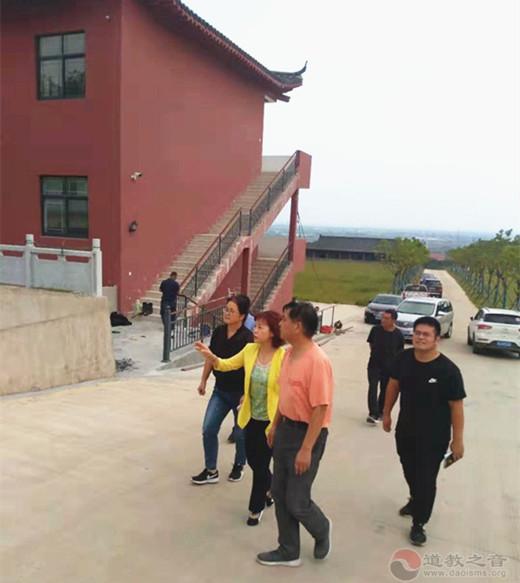 南京市江宁高新区副书记一行检查方山洞玄观安全工作