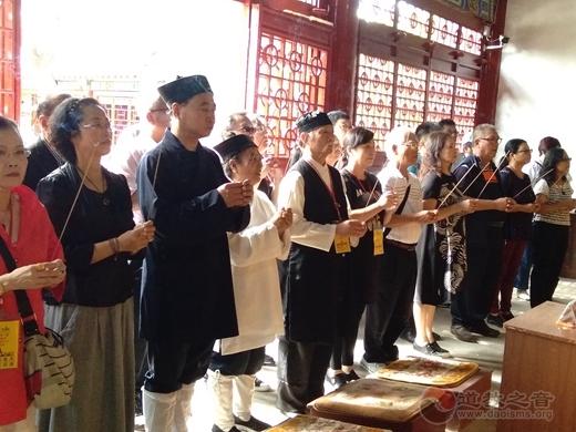 台湾正宗全真道教会参访团一行前往栖霞太虚宫参访交流