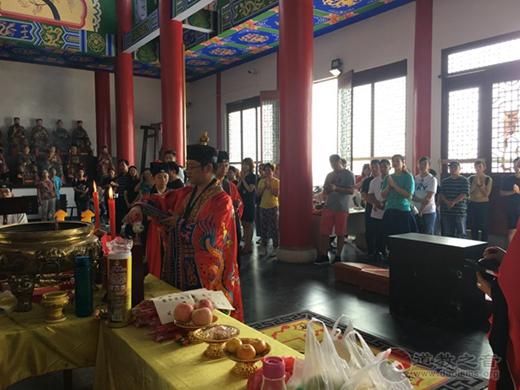 南京市方山洞玄观举行庆祝新中国成立70周年祈福法会活动