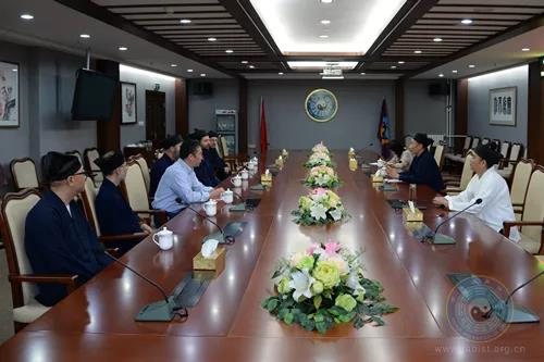 美国清云道院代表团一行拜访中国道教协会