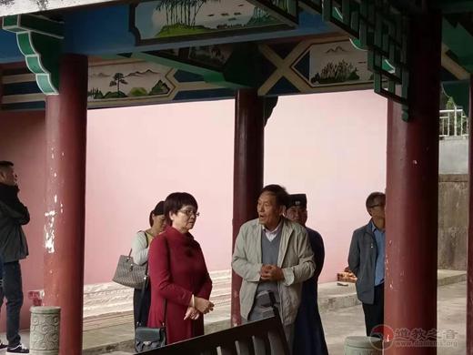 德清县政协副主席王水加一行走访调研德清昌福宫