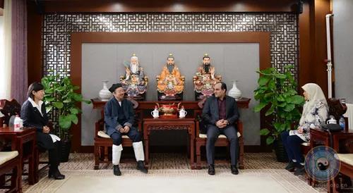 伊朗驻华大使馆新任文化参赞阿巴斯阿里·瓦法伊一行拜访中国道教协会