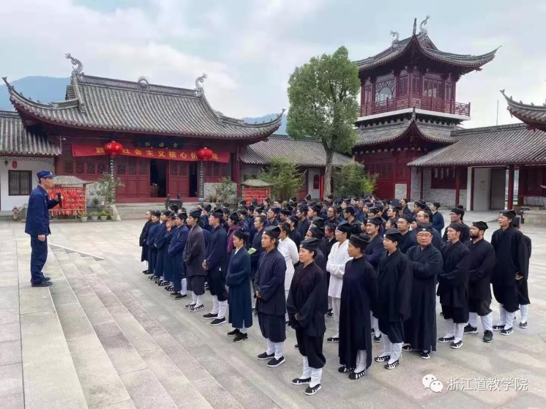 浙江道教学院师生进行消防安全学习