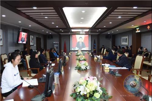中国道教协会组织全体道职员工学习十九届四中全会精神