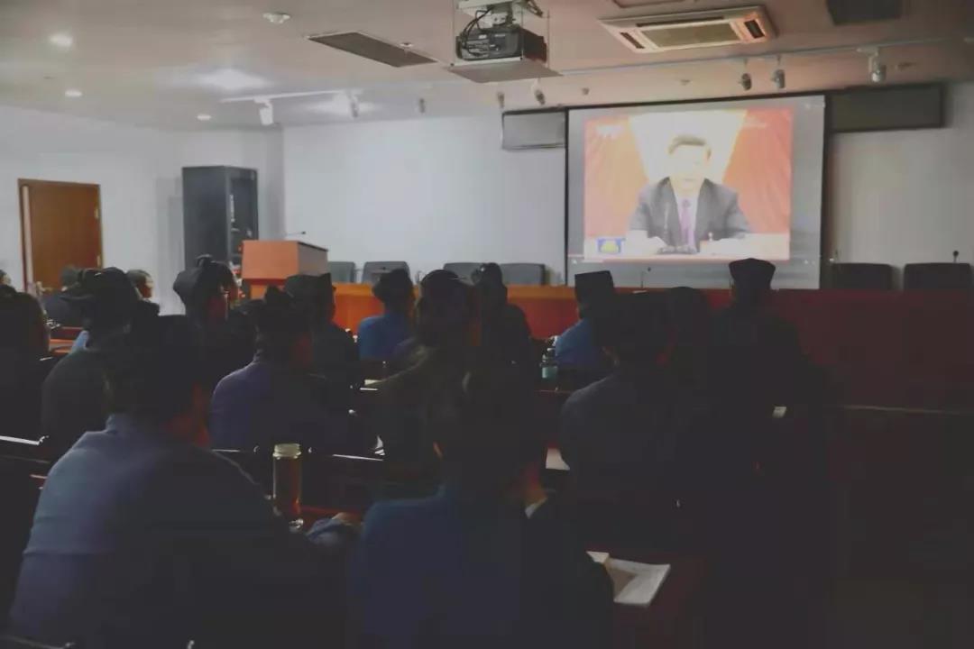 中国道教学院组织全体师生学习党的十九届四中全会精神