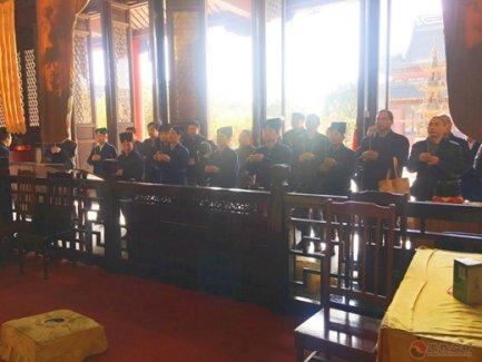 上海青浦区道教协会参访团一行参访常熟真武观