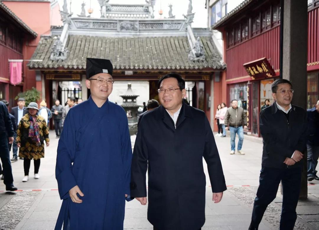 上海市委书记李强调研上海市部分宗教场所