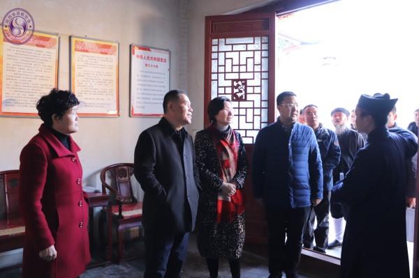 陕西省民宗委副主任一行调研宝鸡龙门洞