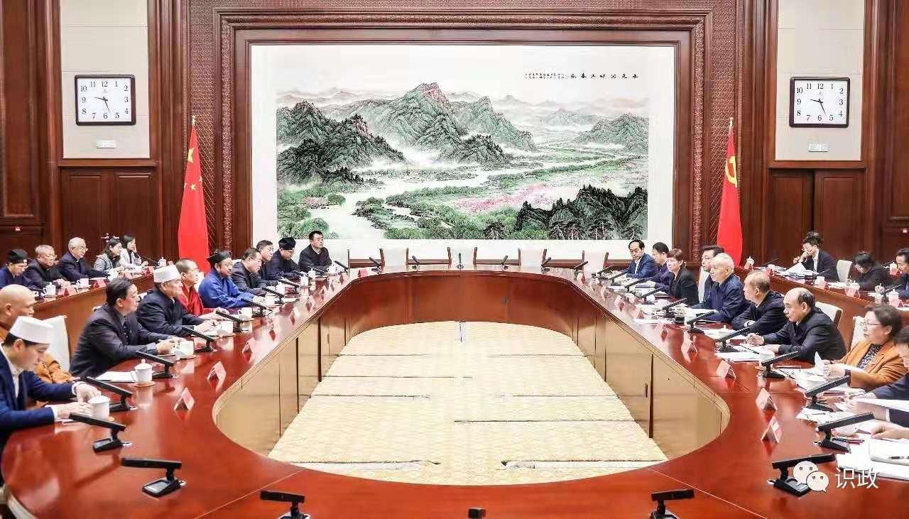 北京市委书记蔡奇与市宗教团体新一届领导班子成员座谈